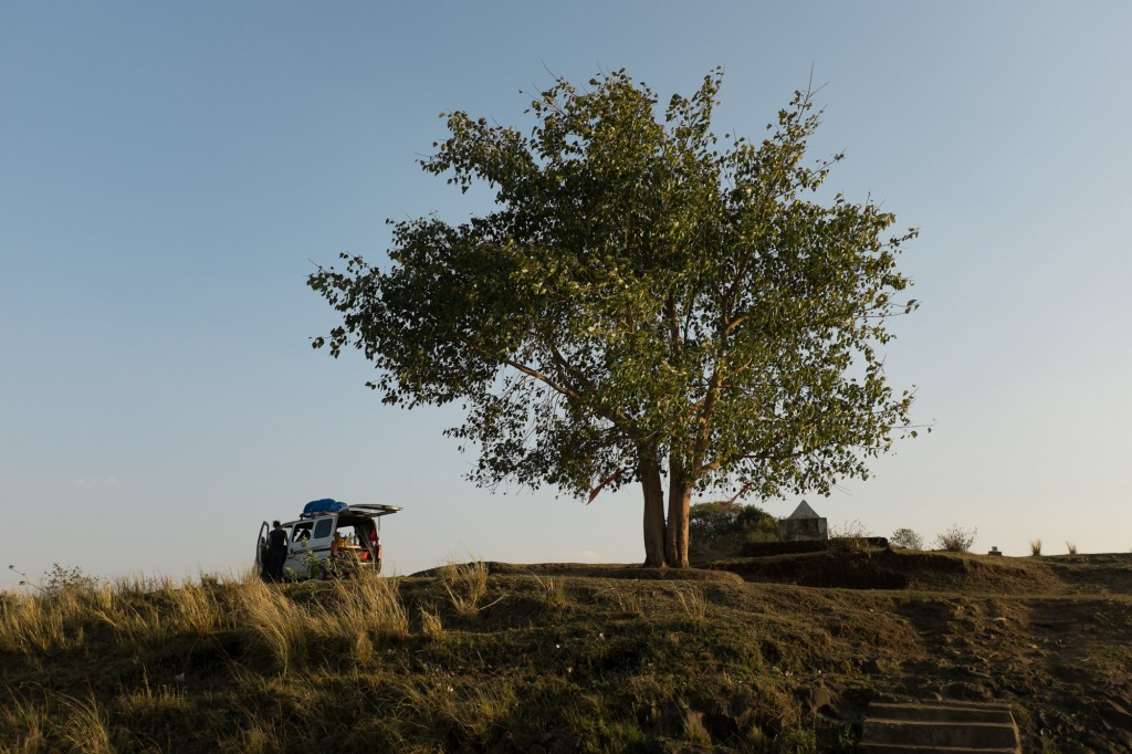 The best camp spot in all of India. A tree, a river... no need for more.